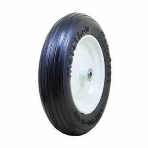 Marathon  8 in. Dia. x 13.3 in. Dia. 300 lb. capacity Centered  Wheelbarrow Tire  Rubber