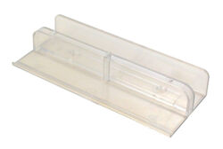 Prime-Line  8.35 in. H x 1-5/8 in. W Clear  Frameless  Shower Door Bottom Guide