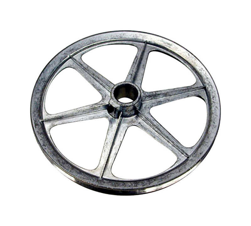 Dial  14 in. H x 14 in. W Zinc  Silver  Blower Pulley