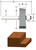 Vermont American  1-1/4 in. Dia. x 3/8 in.  x 2-1/8 in. L Carbide Tipped  Rabbeting  Router Bit