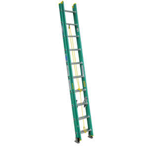 Werner  20 ft. H x 17.75 in. W Fiberglass  Extension Ladder  Type II  225 lb.