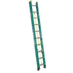 Werner  20 ft. H x 17.75 in. W Fiberglass  Type II  225 lb. Extension Ladder