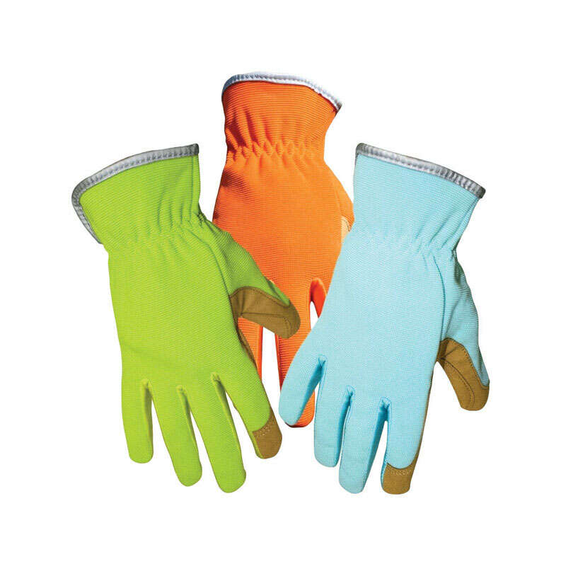 Boss  Women's  Indoor/Outdoor  Synthetic Leather  Gardening Gloves  Assorted  One Size Fits All  1 p