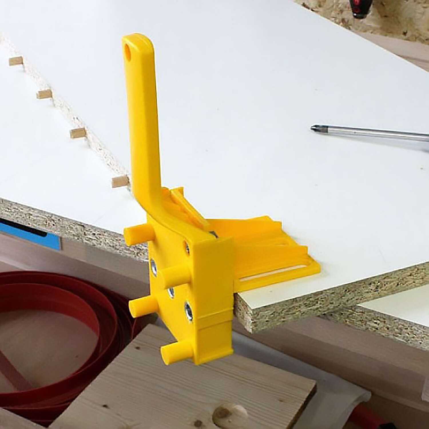 Wolfcraft  Plastic  Doweling Jig  1/2  1-1/4 in. Silver  1 pc.