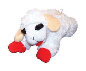 Multipet  Lamb Chop  Plush  Dog Toy  Small  Multicolored
