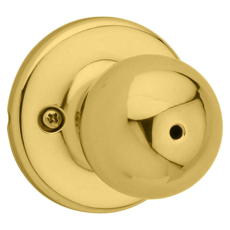 Kwikset  Polo  Polished Brass  Steel  Privacy Knob  3 Grade Right or Left Handed