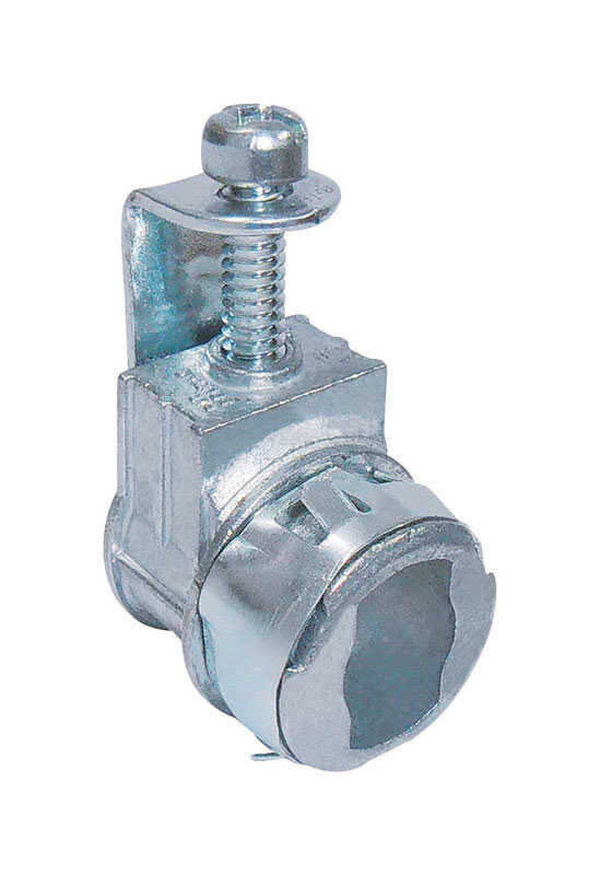 Sigma Electric ProConnex  Snap Lock  3/8 in. Dia. Die-Cast Zinc  Saddle Connector  For AC, MC and NM