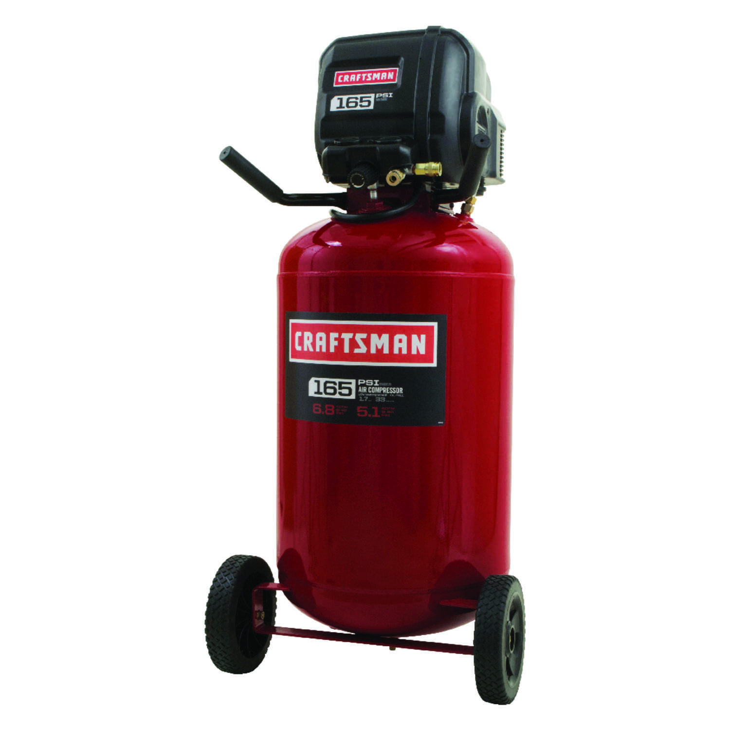 Craftsman  33 gal. Portable Air Compressor  165 psi 1.7 hp