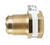 JMF 3/4 in. Flare x 1/2 in. Dia. Female Brass Adapter