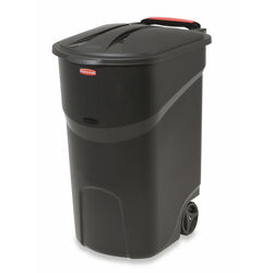 Rubbermaid  Roughneck  45 gal. Resin  Wheeled Garbage Can  Lid Included