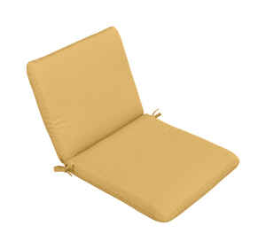 Casual Cushion  Tan  Polyester  Seating Cushion  1.5 in. H x 19 in. W x 36 in. L