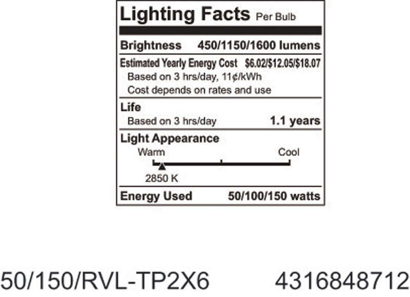 GE Lighting  Reveal  50/100/150 watts A21  Incandescent Bulb  450/1,150/1,600 lumens Soft White  1 p