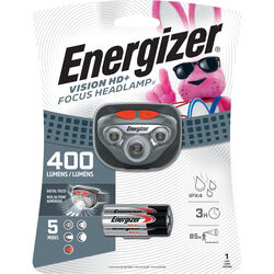 Energizer  Vision HD  400 lumens Gray  LED  Headlight  AAA Battery