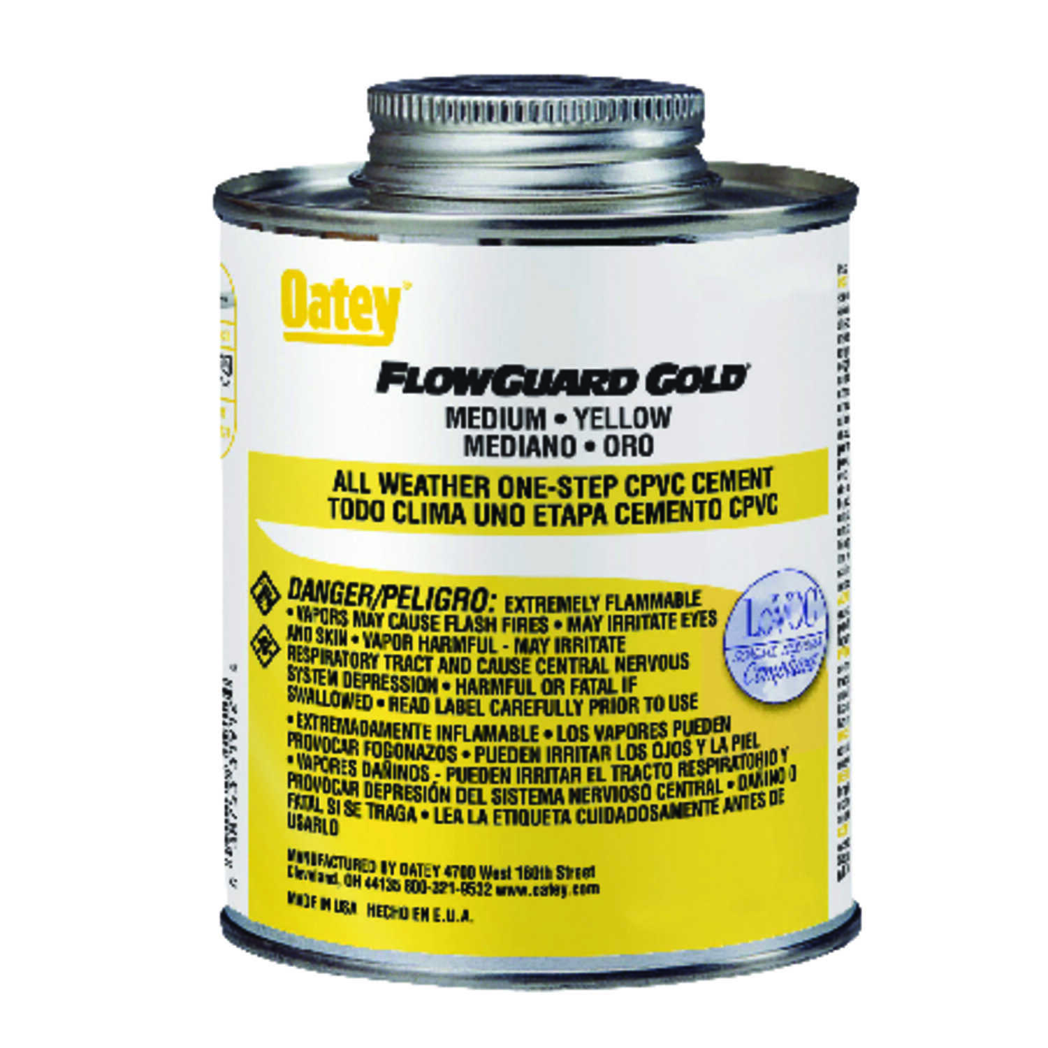 Oatey  FlowGuard Gold All Weather One-Step  Yellow  For CPVC 16 oz. Cement