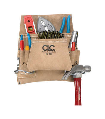 CLC  3 in. W x 12.5 in. H Suede  Nail and Tool Pocket Apron  8 pocket Tan  1 pc.