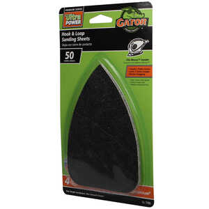 Gator  Mouse  5 in. L x 3-1/2 in. W Coarse  Zirconium Oxide  Mouse Sandpaper  4 pk 50 Grit