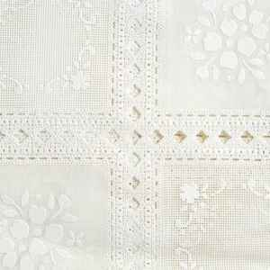 Magic Cover  Yard Goods  .01 in. H x 54 in. W x 540 in. L Ivory Lace  Vinyl  Flannel Back Covering