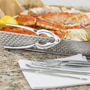 Tablecraft  Silver  Steel/Zinc  Lobster Crack and Fork Set