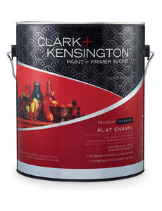 Clark+Kensington  Flat Enamel  Designer White  Acrylic Latex  Paint and Primer  1 gal.