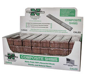 Nelson  1.5 in. W x 8 in. L Composite  Shim  12 pk