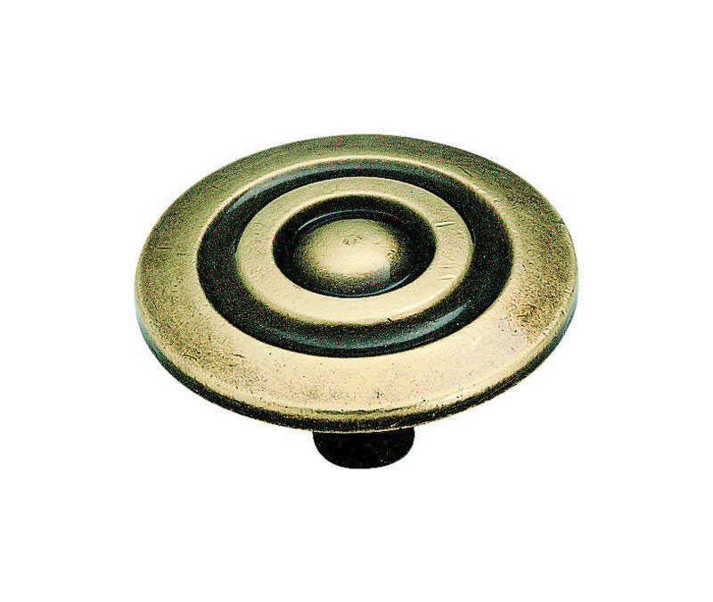 Amerock  Allison  Round  Cabinet Knob  1-1/2 in. Dia. 7/8 in. Antique English  1 pk