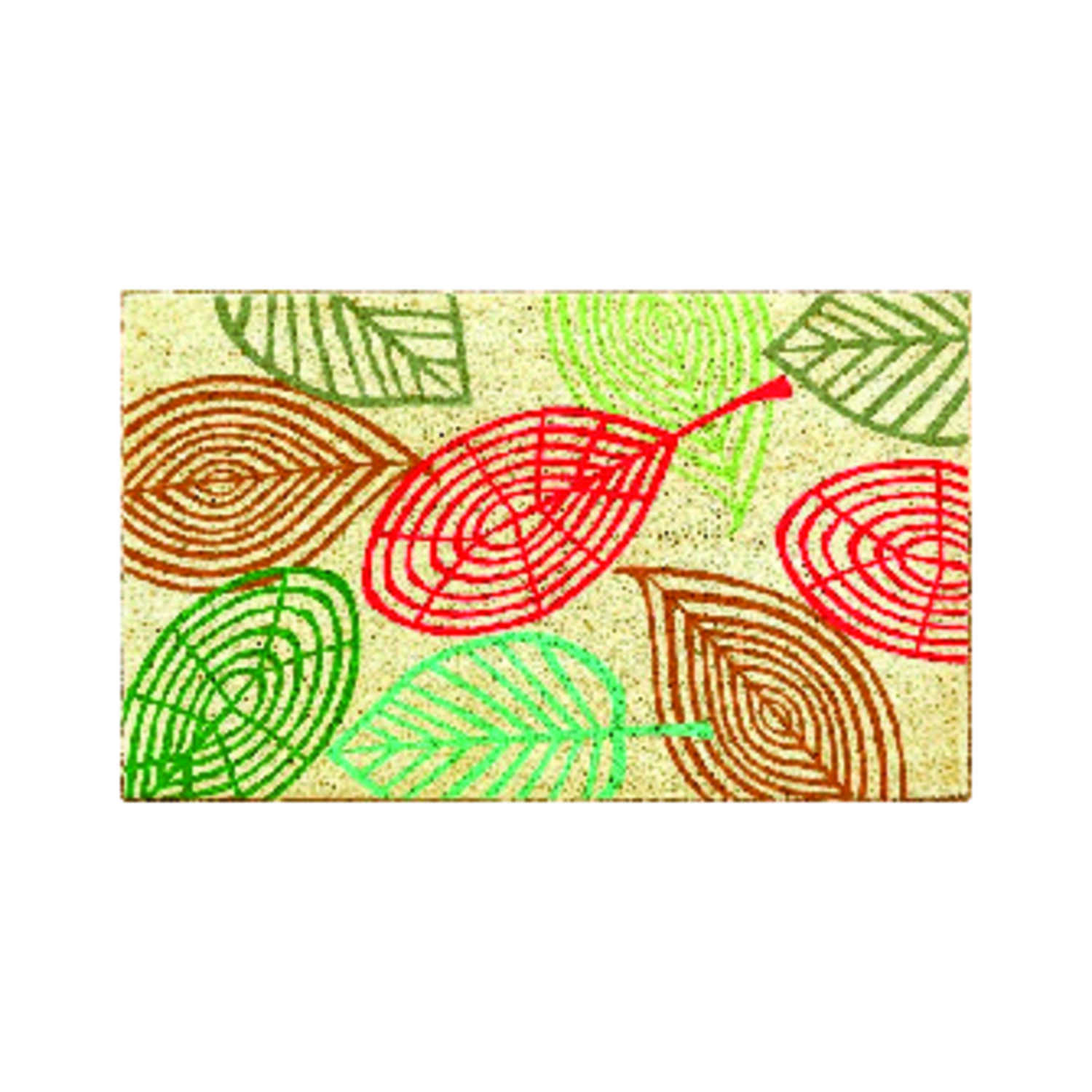 J&M Home Fashions  Multicolor  Coir  Nonslip Floor Mat  30 in. L x 18 in. W