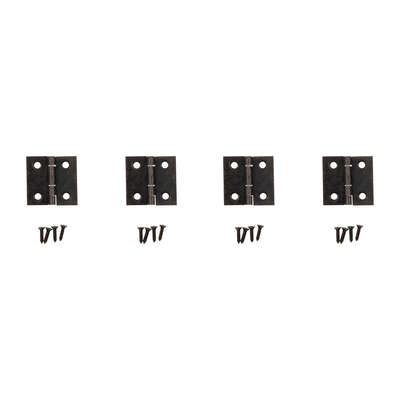 National Hardware 1 in. L Oil Rubbed Bronze Door Hinge 4 pk