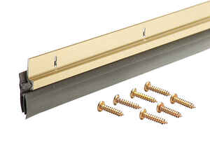 M-D Building Products  Gold  Aluminum/Vinyl  Door Sweep  For Door Sweep 36 in. L x 1/8 in.