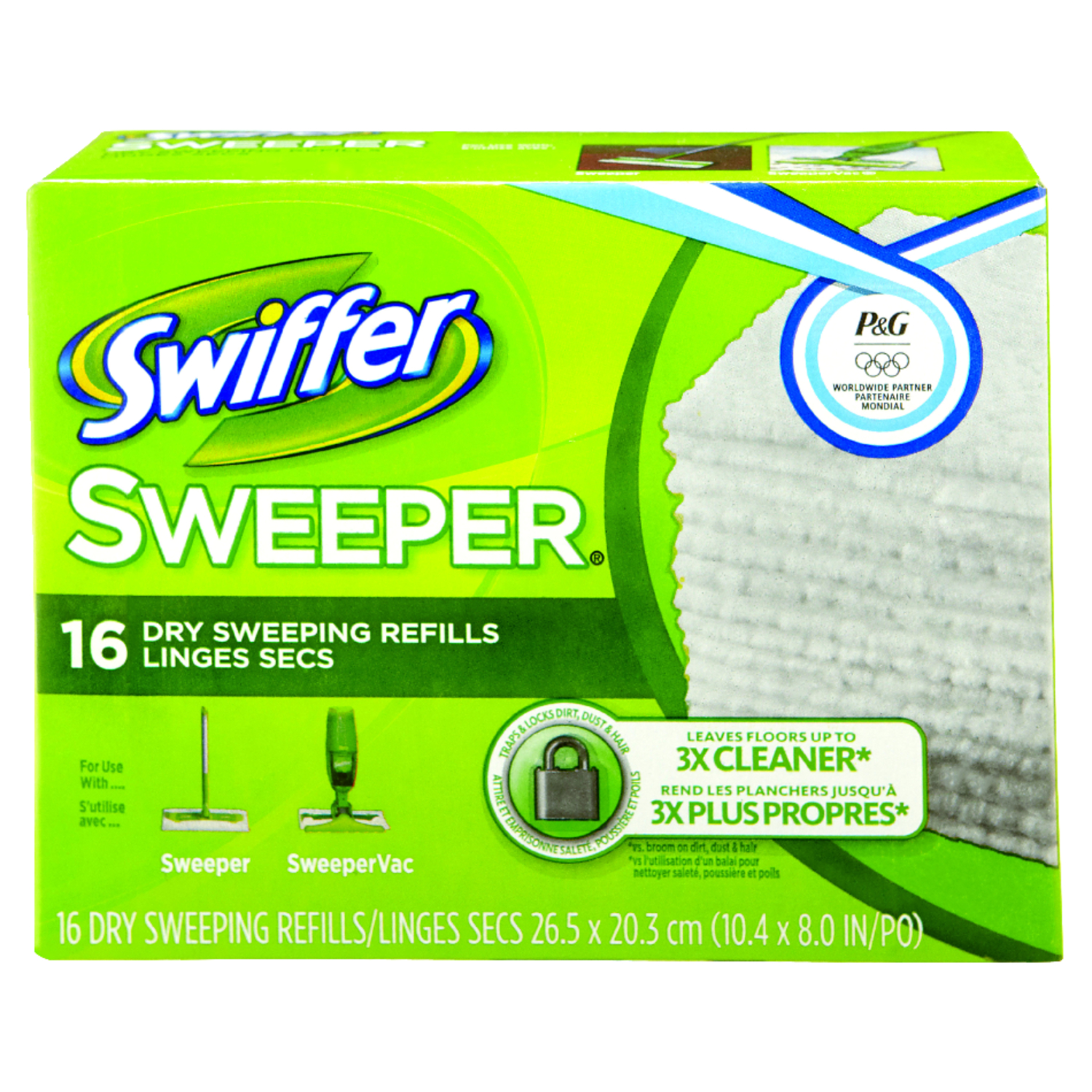 Swiffer  Sweeper  8 in. L Cloth  Mop Refill  16 pk
