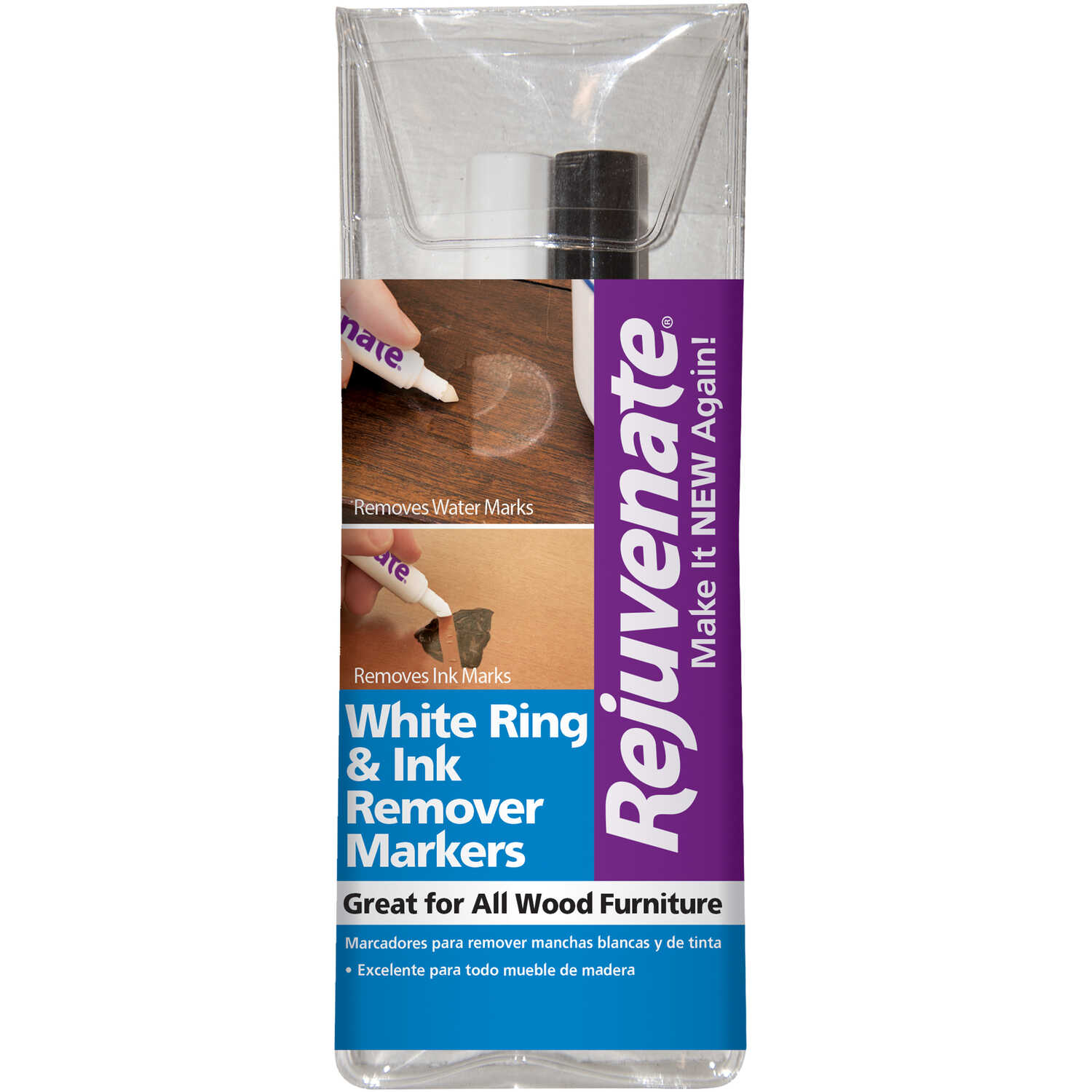 Rejuvenate  Clear  Medium Tip  White Ring and Ink Remover Marker  2 pk