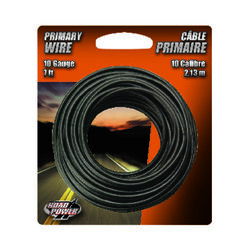Coleman Cable  7 ft. 10 Ga. Primary Wire  Black