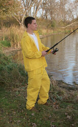 Boulder Creek  Yellow  PVC-Coated Nylon  Deluxe Rain Suit
