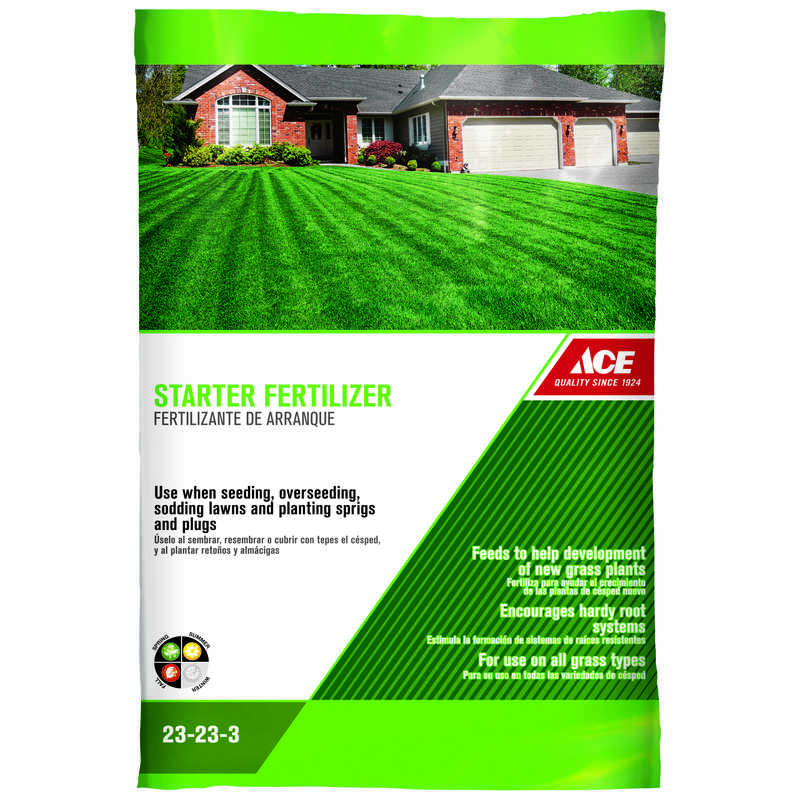 Ace 23 23 3 Starter Fertilizer For All Grass Types 8 Lb