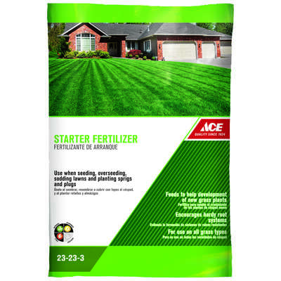 Ace  23-23-3  Starter Fertilizer  For All Grass Types 8 lb. 2500 sq. ft.