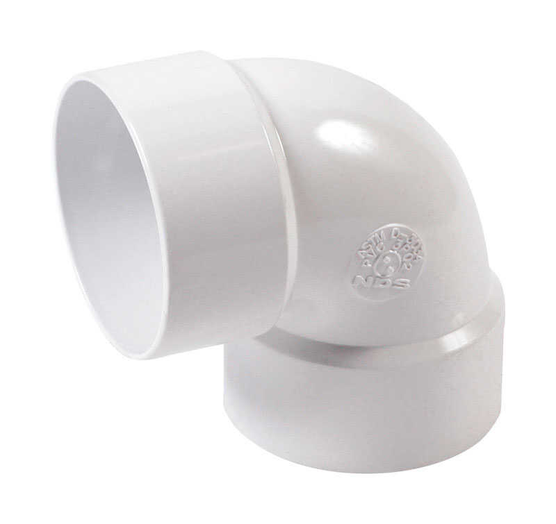 NDS  Schedule 35  3 in. Hub   x 3 in. Dia. Hub  PVC  90 Degree Elbow