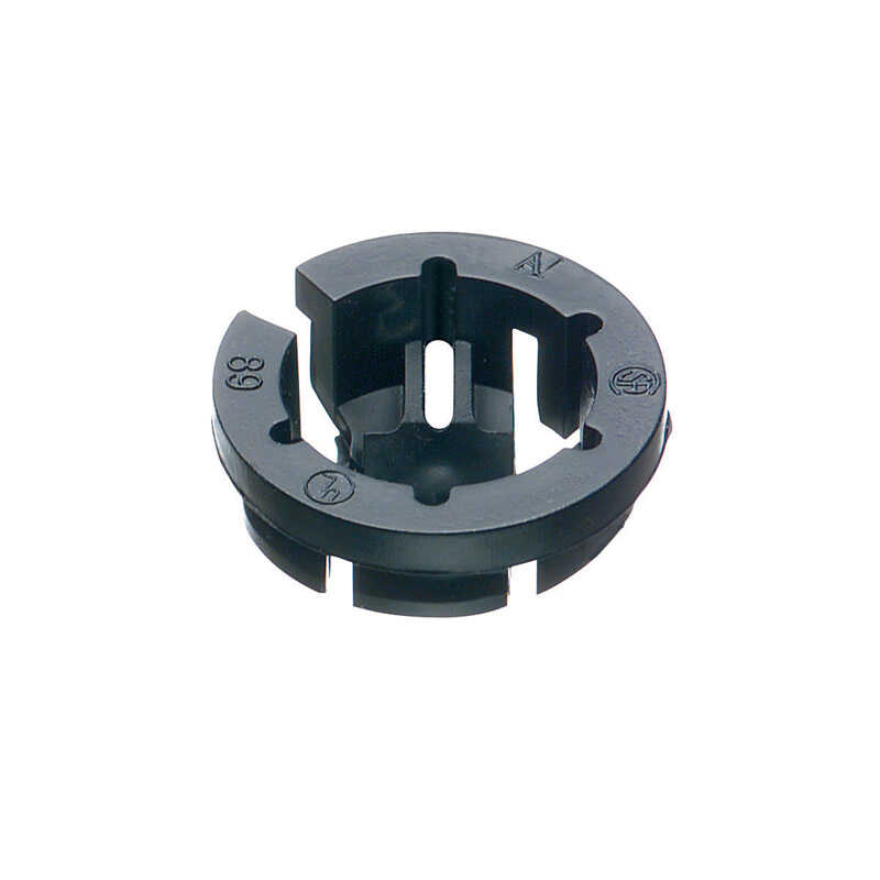 Arlington  Black Button  Push-In  Connector  3/8 in. Dia. 10 pk
