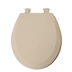 Mayfair  Round  Beige  Molded Wood  Toilet Seat