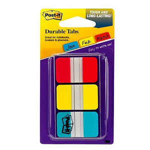 Post-It  1 in. W x 1.5 in. L Assorted  Page Markers  3
