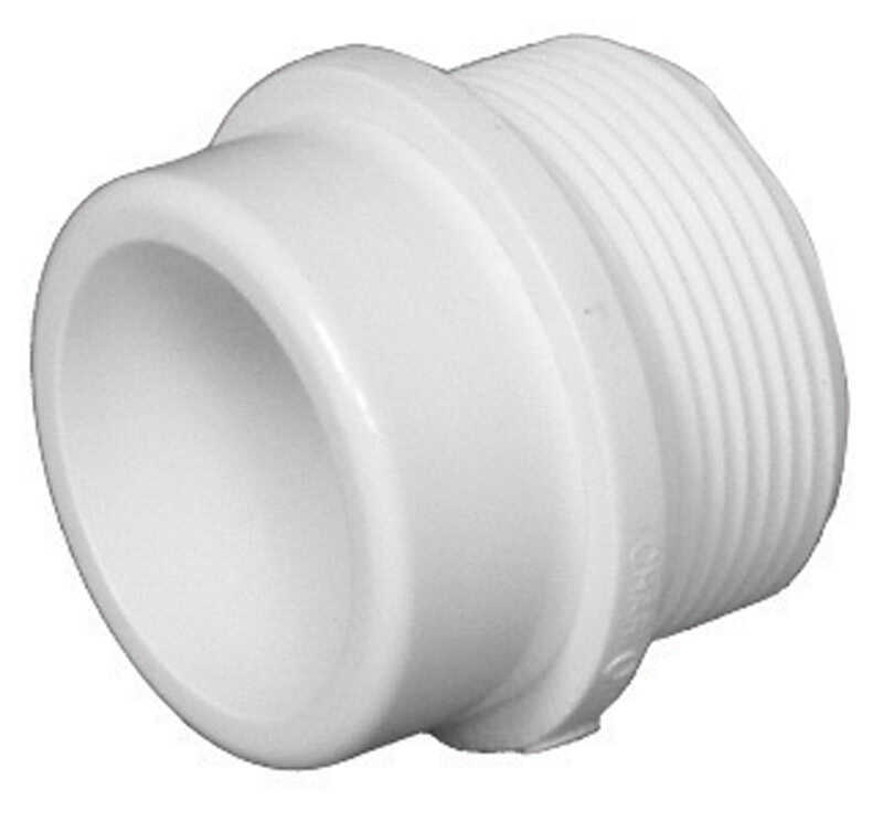 Charlotte Pipe  Schedule 30  1-1/2 in. Spigot   x 1-1/2 in. Dia. Slip  PVC  Trap Adapter