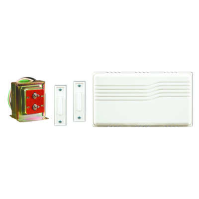 Heath Zenith  White  Plastic  Wired  Door Chime Kit