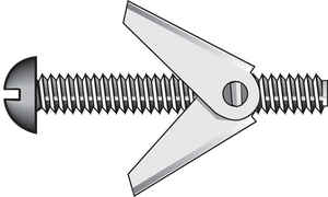 Hillman  Fas-N- Tite  1/8 in. Dia. x 3 in. L Truss  Steel  Toggle Bolt  50 pk