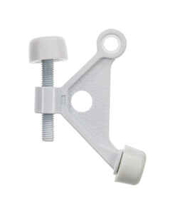 Ace  2.75 in. H x 2-5/8 in. W Metal  White  Hinge Pin Door Stop  Mounts to door and wall