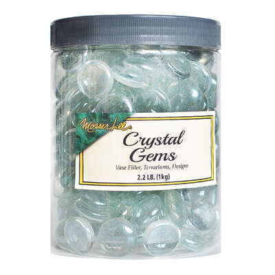 Mosser Lee  Crystal Gems  Clear  Vase Filler  2.2 lb.