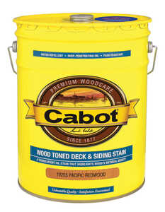 Cabot  Wood Toned  Transparent  Pacific Redwood  Oil-Based  Deck and Siding Stain  5 gal.