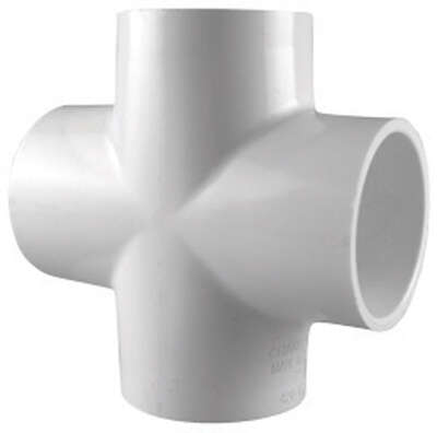 Charlotte Pipe  Schedule 40  2 in. Slip   x 2 in. Dia. Slip  PVC  Cross