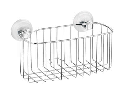 InterDesign Power Lock Silver Stainless Steel Shower Basket