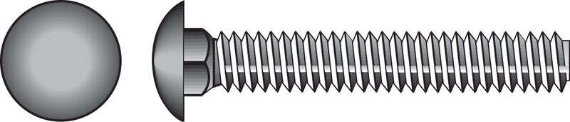 Hillman  1/2 in. Dia. x 4-1/2 in. L Hot Dipped Galvanized  Steel  Carriage Bolt  25 pk