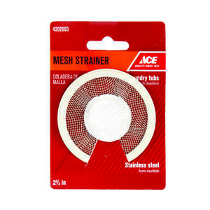 Ace  2-3/4 in. Dia. Mesh Strainer  Chrome