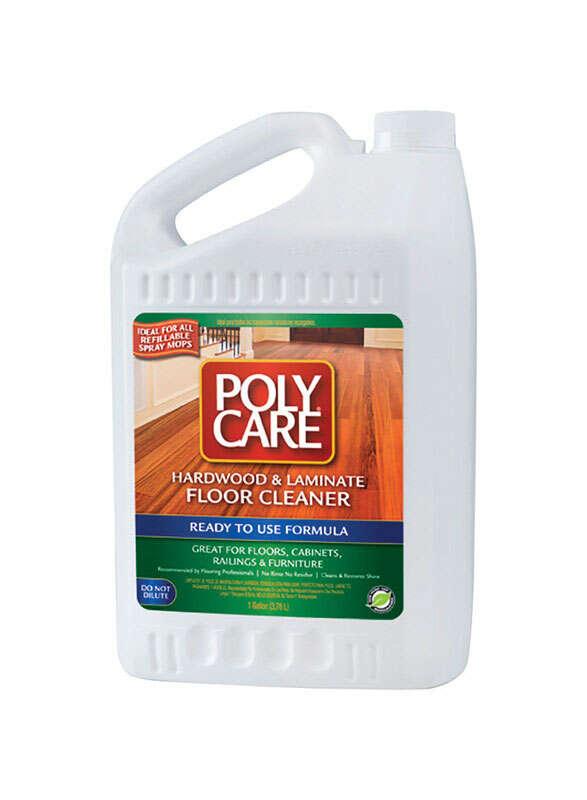 Polycare Fresh Scent Hardwood Laminate Floor Cleaner Liquid 1 Gal Ace Hardware