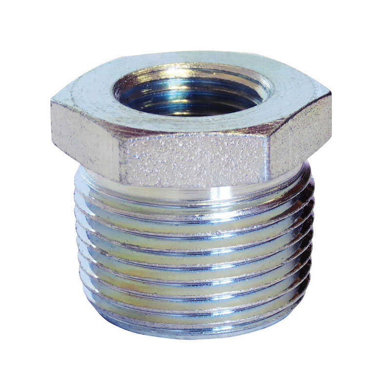 Anvil  3/8 in. MPT   x 1/8 in. Dia. FPT  Galvanized  Steel  Hex Bushing